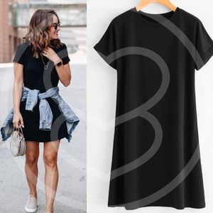 Dresses & Skirts - ROBBIE Comfy t-shirt Dress - BLACK
